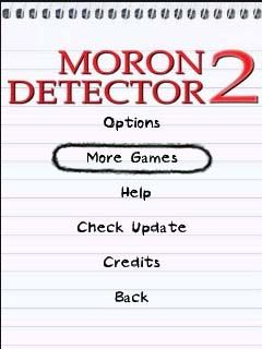 Download free mobile game: Moron Detector 2 - download free games for mobile phone.