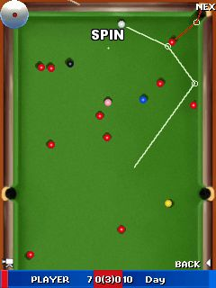 Jeu mobile Le Championnat du Monde de Snooker 2011 - captures d'écran. Gameplay World Snooker Championship 2011.
