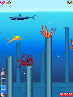 Скриншот java игры Underwater Beauty. Игровой процесс.