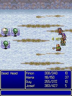 Mobile game Final Fantasy II - screenshots. Gameplay Final Fantasy II.