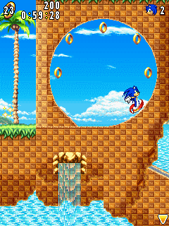 Download free mobile game: Sonic Advance - download free games for mobile phone.