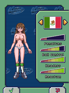 Download free game for mobile phone: Naked Babe Soccer - download mobile games for free.