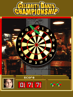 Download free mobile game: Celebrity Darts Championship - download free games for mobile phone.