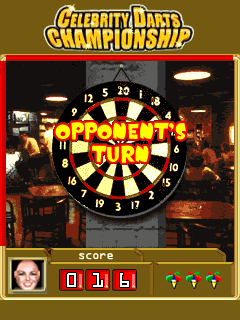 Mobile game Celebrity Darts Championship - screenshots. Gameplay Celebrity Darts Championship.