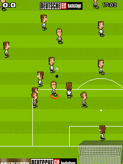 Mobile game FunSoccer Deutsche Elf Backstage - screenshots. Gameplay FunSoccer Deutsche Elf Backstage.