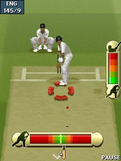 Mobil-Spiel EE Cricket 2011 - Screenshots. Spielszene EA Cricket 2011.