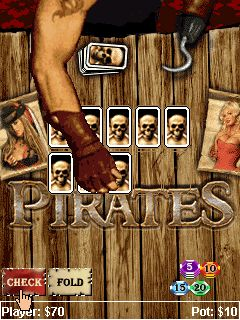Download free mobile game: Pirates poker - download free games for mobile phone.