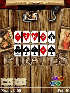Download free game for mobile phone: Pirates poker - download mobile games for free.