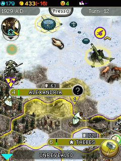 Mobil-Spiel Sid Meiers Zivilization 5 Das Handyspiel - Screenshots. Spielszene Sid Meiers Civilization 5 The Mobile Game.