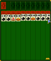Скриншот java игры Golden Solitaire. Игровой процесс.