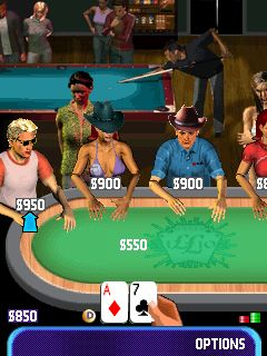 Скриншот java игры Poker Million 2 The Masters Texas Holdem. Игровой процесс.