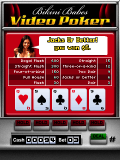 Download free mobile game: Bikini Babes Video Poker - download free games for mobile phone.