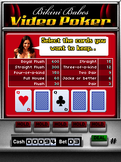 Download free game for mobile phone: Bikini Babes Video Poker - download mobile games for free.