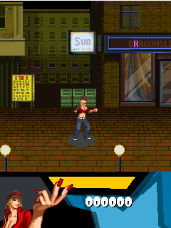 Скриншот java игры Hip-hop Street Fighting. Игровой процесс.