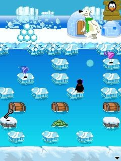 Download free mobile game: Crazy Penguin Freezeway - download free games for mobile phone.