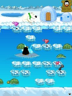 Download free game for mobile phone: Crazy Penguin Freezeway - download mobile games for free.