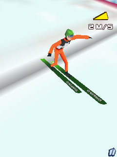 Mobile game Ski Jumping 2012 3D - screenshots. Gameplay Ski Jumping 2012 3D.