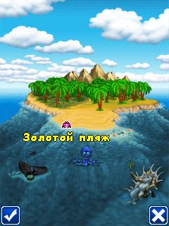 Скриншот java игры Beach Ball Crab Mayhem. Игровой процесс.