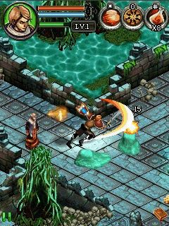 Jeu mobile Le Chasseur Sombre 3 - captures d'écran. Gameplay Dungeon Hunter 3.
