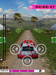 Скриншот java игры Ultimate Rally Championships. Игровой процесс.