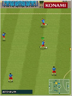 Jeu mobile Pro Evolution Soccer 2010 - captures d'écran. Gameplay Pro Evolution Soccer 2010.
