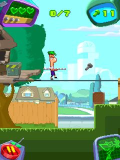 Mobile game Phineas and Ferb - screenshots. Gameplay Phineas and Ferb.