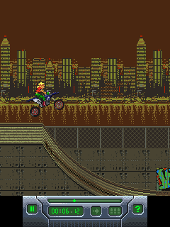 Mobil-Spiel Freistil Motorcross-X 2 - Screenshots. Spielszene Freestyle Moto-X 2.