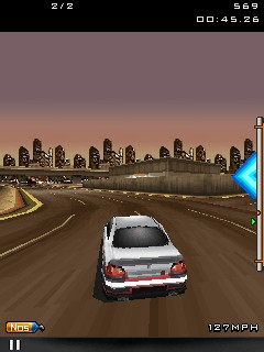 Скриншот java игры Fast and Furious 3D. Игровой процесс.