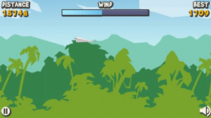 Mobile game Paper Glider - screenshots. Gameplay Paper Glider.