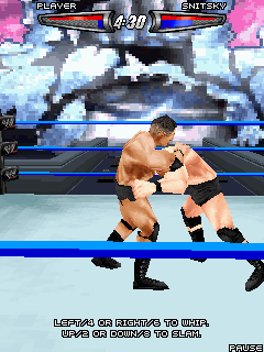 Скриншот java игры WWE SmackDown vs. RAW 2008. Игровой процесс.