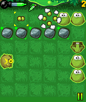 Jeu mobile L'Explosion de la Grenouille - captures d'écran. Gameplay Frog burst.