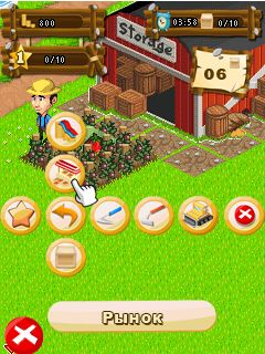 Jeu mobile Le Fermier Joyeux - captures d'écran. Gameplay Happy Farmer.