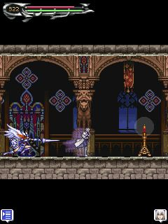 Скріншот java гри Castlevania: Dawn of Sorrow. Ігровий процес.