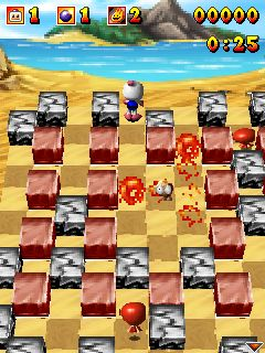 Mobile game Bomberman Atomic 3D - screenshots. Gameplay Bomberman Atomic 3D.