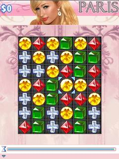 Mobil-Spiel Paris Hilton's Diamantensuche - Screenshots. Spielszene Paris Hilton's Diamond Quest.
