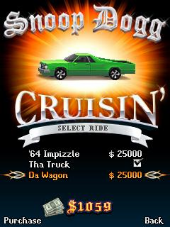 Download free mobile game: Snoop Dogg Cruisin - download free games for mobile phone.