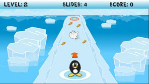 Mobile game Skliding Penguin - screenshots. Gameplay Skliding Penguin.