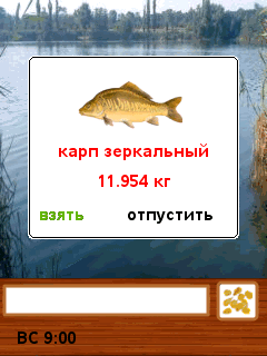 Mobil-Spiel Angeln in Kuban - Screenshots. Spielszene Fishing in Kuban.