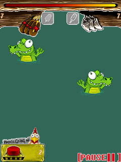 Download free mobile game: Whack a croc - download free games for mobile phone.