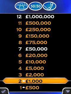 Download free game for mobile phone: Millionaire 2012 - download mobile games for free.
