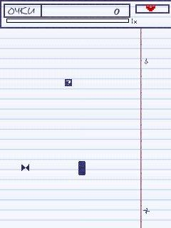 Mobile game Snake in copybook - screenshots. Gameplay Snake in copybook.
