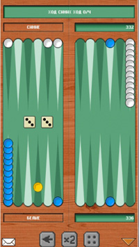 Jeu mobile Le Backgammon - captures d'écran. Gameplay Dlinardi.