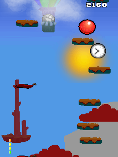 Mobile game Bounce to Sky Red MOD - screenshots. Gameplay Bounce to Sky Red MOD.