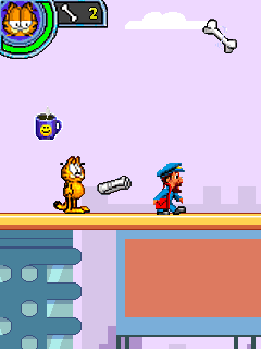 Download free mobile game: Garfield's Day Out - download free games for mobile phone.