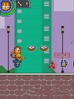 Jeu mobile Le Jour de Repos de Garfield - captures d'écran. Gameplay Garfield's Day Out.