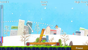 Скриншот java игры Angry Birds Winter Edition. Игровой процесс.