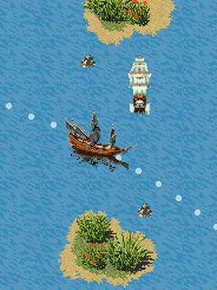 Скриншот java игры Pirates of the Caribbean: Dead Man's Chest. Игровой процесс.