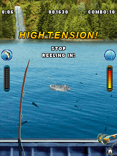 Скриншот java игры Bass Fishing Mania 4. Игровой процесс.