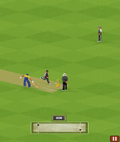 Скриншот java игры Ultimate Cricket World Cup 2011. Игровой процесс.