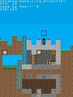 Jeu mobile Le Mineur 2D Clone - captures d'écran. Gameplay Minecraft 2D Clone.